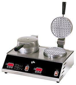 208/240 Volt Star SWB7R2E CSA Double Round Waffle Iron 7