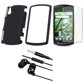 Sony Ericsson Xperia Play R800i 3 piece Case, Protector, and Headset