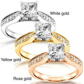 14k White Gold 1 1/6ct TDW Diamond Engagement Ring