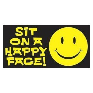 sit on a happy face STICKER