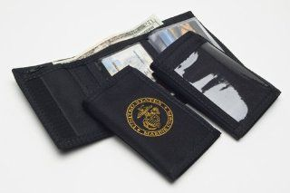 Trifold Velcro Wallet With Outside ID & Marine Corps USMC