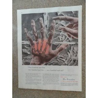 the Travelers insurance, Vintage 50s full page print ad. (206