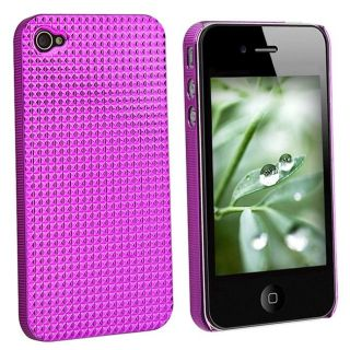 Chrome Hot Pink Diamond Slim Fit Case for Apple iPhone 4