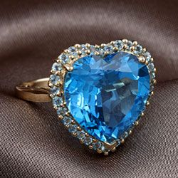 Encore by Le Vian 10k Yellow Gold Blue Topaz Ring