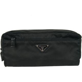 Prada 2N0030 Black Nylon Toiletry Case