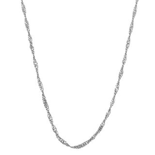 Fremada 10k White Gold 18 inch Singapore Chain Today $49.99 4.3 (35