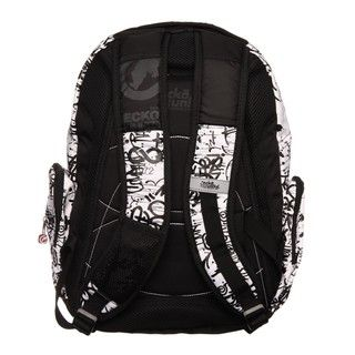 Ecko Unlimited Splatter Black and White Backpack