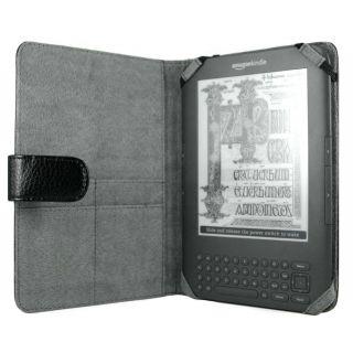 Mivizu Black Nubuck Leather Kindle Folio Case
