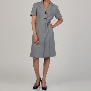 Danny and Nicole Womens Button front Coat Dress
