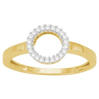 10k Yellow Gold 1/10ct TDW Diamond Circle Ring (J K, I3) Today $172