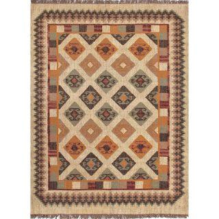 Handmade Flat Weave Tribal Multicolor Jute Rug (5 x 8) Today $183