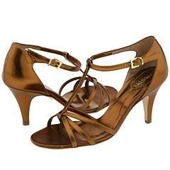 Christin Michaels Ahmed Bronze Sandals