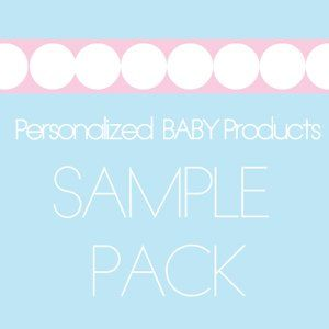 Personalized Baby Products Sample Pack   Baby Shower Gifts