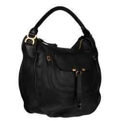 Chloe Marcie Italian Black Leather Hobo Bag