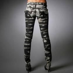 Laguna Beach Jeans Womens Hermosa Beach Black Wash Burn Out Pants