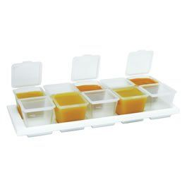 2 Sets, Baby Food Storage Cubes (10) with Tray Baby