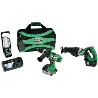 Hitachi 3 piece 18 volt Cordless Tool Combo Kit (Refurbished