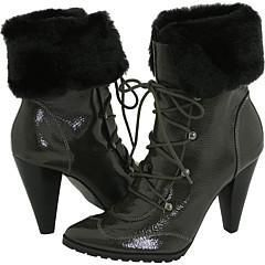 Two Lips Womens Boulder Faux Fur Grey Boots