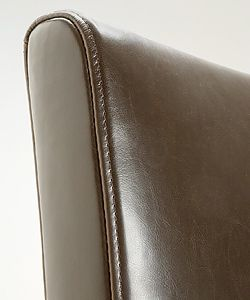 Andre Dark Brown Leather Barstools (Set of 2)