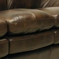 Mason Brown Italian Leather Sofa/ Chair Set