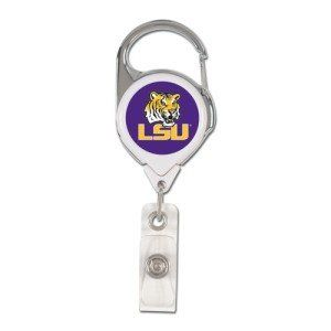 LSU Tigers Retractable Premium Badge Holder Sports