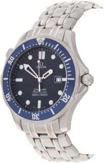 Omega Seamaster 300 Mens Stainless Steel Dark Blue Dial Watch