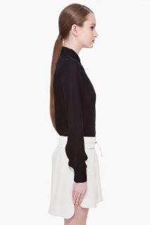 Haute Hippie Black Silk Open Back Blouse for women