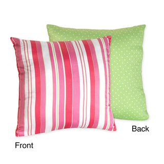 Sweet JoJo Designs Olivia Pink Stripe/ Green Dots Reversible 16 inch