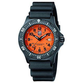 Luminox Black Ops 8400 Series Orange Dial Rubber Strap Divers Watch