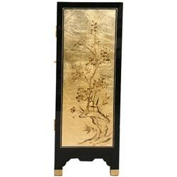 Black/ Gold Lacquer Chinese Cabinet