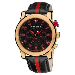 Akribos XXIV Mens Stainless Steel Multifunction Sport Watch