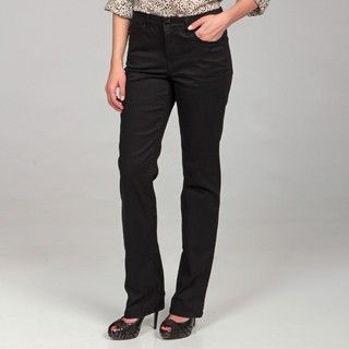 Jones New York Womens Black Mid rise Pants