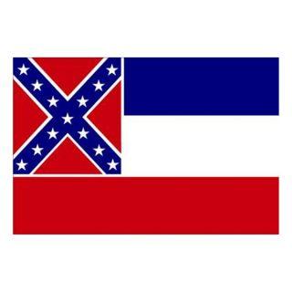 Nylglo 142860 Mississippi State Flag, 3x5 Ft
