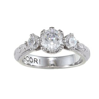 Tacori IV Cubic Zirconia Epiphany Bloom cut 3 stone Ring