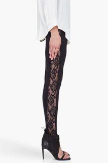 By Malene Birger Black Enea Lace Leggings for women