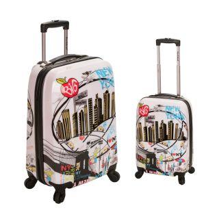 Rockland New York 2 piece Lightweight Hardside Spinner Luggage Set