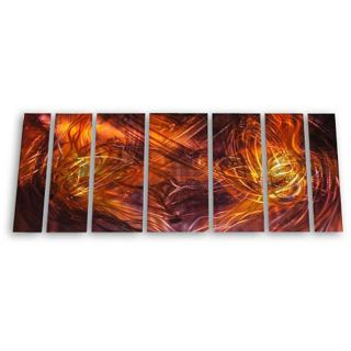 Ash Carl Dueling Flames 7 piece Metal Art Set Compare $389.99 Today