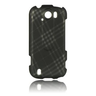 Luxmo Diagonal Checker Rubber Coated Case for HTC myTouch 4G Slide