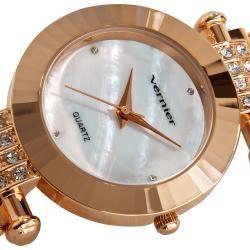 Vernier Womens Rose tone Elegant Chain Bracelet Watch