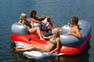 Sea Doo 4 Person Inflatable Aqua Lounge with MP3 System