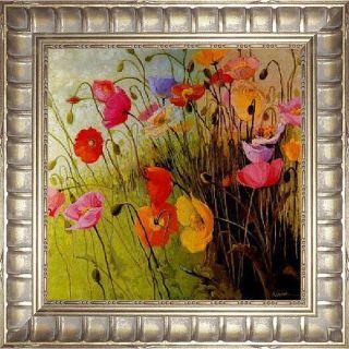 Shirley Novak Meadow Dance Framed Canvas Art