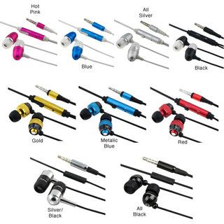 BasAcc Eforcity Universal 3.5mm In ear Stereo Headset with Mic