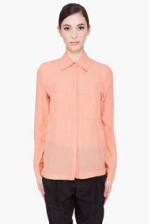 By Malene Birger Silk Blend Apricot Aicha Blouse for women