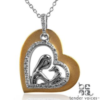 ASPCA Tender Voices Silver/ Gold 1/10ct TDW Diamond Necklace Today $