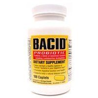 Bacid Probiotic Dietary Supplement Caplets   100 ea