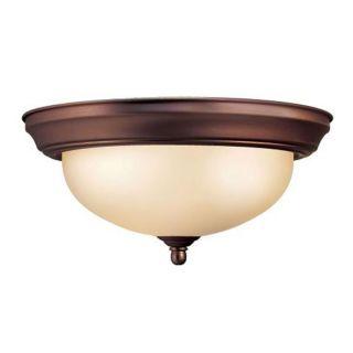 Woodbridge Lighting 3 light Oil Rubbed Bronze Flush Mount Light