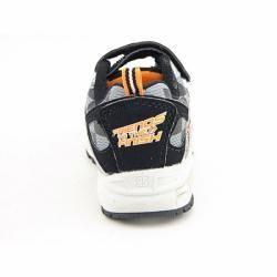 Disney Pixar Toddler CAF316 Black/Silver Walking Shoes