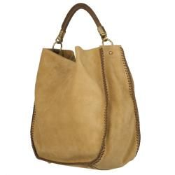 Yves Saint Laurent Beige Suede Hobo Bag