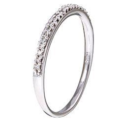 10k White Gold 1/10ct TDW Diamond Wedding Band (J K, I2 I3