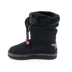 Lights Skechers Disko Lites Kids Girls Black Snow Boots